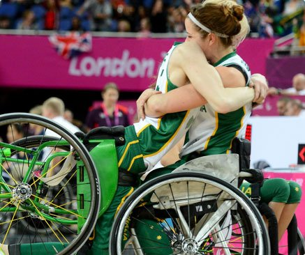 Cobi Crispin and Amber Merritt at the London 2012 Paralympic Games