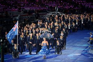 Greg Smith Flag Bearer & AUS Paralympic Team (AUS) Opening Ceremony (Wednesday 29th Aug) Opening Ceremony London Paralympics - Summer / London 2012 London England 29 Aug - 9 Sept  © Sport the library/Courtney Crow