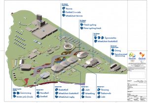 Barra Olympic Park map - July 2014