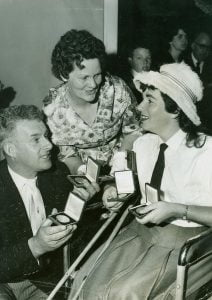 DCeeney1962 Commonwealth Paraplegic Games_Daphne Ceeney and parents after Rome