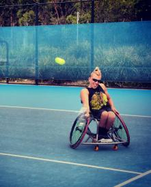 Dylan Alcott SydInternational Wheelchair Tennis Jan14