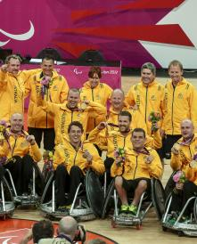 AUS Wheelchair Rugby Medal Ceremony Gold