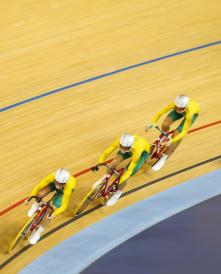 Susan Powell AUS Leads Cycling