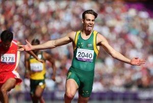 Evan O'Hanlon (AUS) Gold, Men's 200m - T38 Final. Athletics, Olympic Stadium (Saturday 8th Sept) Paralympics - Summer / London 2012 London England 29 Aug - 9 Sept  © Sport the library/Joseph Johnson