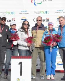 Melissa Perrine and guide Andrew Bor_IPC Alpine Skiing World Championships
