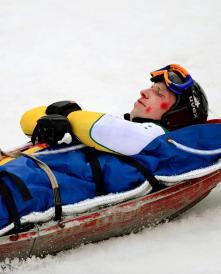 Sochi2014 training Rahles Rahbula crash