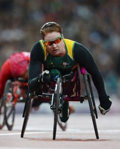Angela Ballard AUS wins silver in the Women's 200m - T53 Athletics (Thursday 6th Sept) - Olympic Stadium Paralympics - Summer / London 2012 London, England 29 Aug - 9 Sept © Sport the library/Courtney Crow