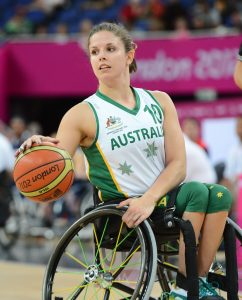 Clare Nott (AUS) Women's Australia vs. USA in the semi-final Wheelchair Basketball (Thurs 6th Sept) - North Greenwhich Arena Paralympics - Summer / London 2012  London, England 29 Aug - 9 Sept © Sport the library/Courtney Crow