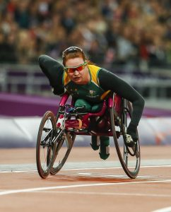 Richard Colman (AUS), Womens 100m-T53, Athletics (Day 04 Sun 2 Sep) - Olympic Stadium, Paralympics - Summer / London 2012, London, England 29 Aug - 9 Sept , © Sport the library/Greg Smith