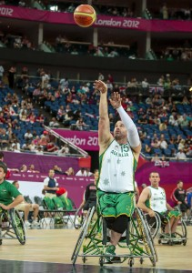 Brad Ness (AUS) Wheelchair Basketball Mens - Gold Medal Game (Saturday 8th Sept) - Day10, North Greenwich Arena, Paralympics - Summer / London 2012, London, England 29 Aug - 9 Sept , © Sport the library/Greg Smith