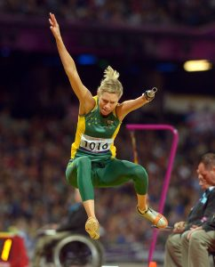 Carlee Beattie (AUS) Silver Athletics : Women's Long Jump F46 Olympic Stadium  (Sunday 2 Sept) Paralympics - Summer / London 2012 London England 29 Aug - 9 Sept  © Sport the library / Jeff Crow