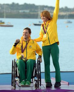 Daniel Fitzgibbon & Liesl Tesch  (AUS) GOLD Sailing : Skud 18 (Two-person keelboat) Weymouth and Portland (Thursday 6 Sept) Paralympics - Summer / London 2012 London England 29 Aug - 9 Sept  © Sport the library / Jeff Crow