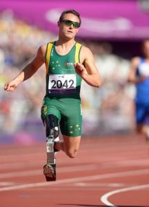 Scott Reardon (AUS) heats Athletics : Men's 200m Olympic Stadium (Friday 7 Sept) Paralympics - Summer / London 2012 London England 29 Aug - 9 Sept © Sport the library / Jeff Crow