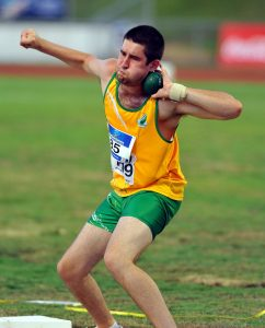 Athletics/ Guy Henley (shot put) 2011 Arafura Games / Darwin Aus Oceania Paralympic Championships  7th - 14th May 2011 © Sport the library/Jeff Crow