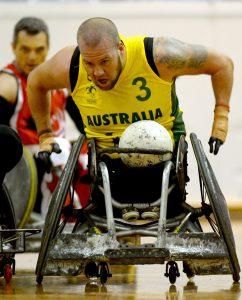 Ryley Batt (AUS) Australia v Canada / Game 5 International Wheelchair Rugby Australian Paralympic Committee State Netball & Hockey Centre / Melb Thursday 25 June 2015 © Sport the library / Jeff Crow