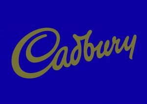 Cadbury 2685 script logo