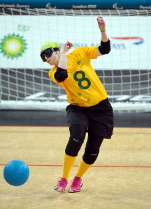 Meica Christensen (AUS) Womens Goalball Aus vs Japan - Copper Box, Paralympics - Summer / London 2012 London, England 29 Aug - 9 Sept © Sport the library / Jeff Crow