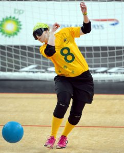 Meica Christensen (AUS) Womens Goalball  Aus vs Japan  - Copper Box,  Paralympics - Summer / London 2012 London, England 29 Aug - 9 Sept © Sport the library / Jeff Crow