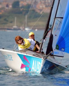 Liesl Tesch & Daniel Fitzgibbon (AUS)  Sailing : Skud18 (Two-person keelboat) Weymouth and Portland Paralympics - Summer / London 2012 London England 29 Aug - 9 Sept  © Sport the library / David Staley / IFDS