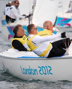 Colin Harrison, Jonathan Harris & Stephen Churm (AUS)  Sailing : Sonar (Three-person keelboat) Weymouth and Portland Paralympics - Summer / London 2012 London England 29 Aug - 9 Sept  © Sport the library / David Staley / IFDS