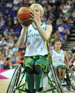 Amber Merritt (AUS) Women's Australia vs. GER in the final Gold Medal match. Wheelchair Basketball (Fri 7th Sept) - North Greenwhich Arena Paralympics - Summer / London 2012  London, England 29 Aug - 9 Sept © Sport the library/Courtney Crow