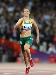Torita Isaac (AUS) competes in the Women's 200m Final T-38 Athletics (Thursday 6th Sept) - Olympic Stadium Paralympics - Summer / London 2012 London, England 29 Aug - 9 Sept © Sport the library/Courtney Crow