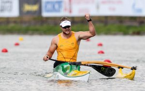 Image of Curtis McGrath in action while para-canoeing