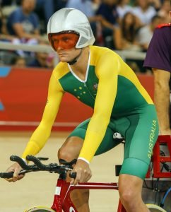 Michael Gallagher (AUS) waiting for the start of his qualifying session for the Men's Individual C5 Pursuit, Track Cycling (Sat 1 Sep) - Velodrome,Paralympics - Summer / London 2012, London, England 29 Aug - 9 Sept , © Sport the library/Greg Smith