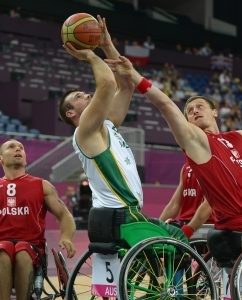 Bill Latham (AUS) Wheelchair Basketball : Men QF vs POL North Greenwich Stadium (Wednesday 5 Sept) Paralympics - Summer / London 2012 London England 29 Aug - 9 Sept © Sport the library / Jeff Crow