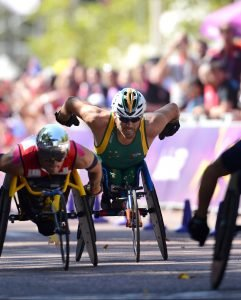 Kurt Fearnley wins Bronze in the Men's Marathon - T12 Athletics (Sat. 9th Sept) - The Mall Paralympics - Summer / London 2012  London, England 29 Aug - 9 Sept © Sport the library/Courtney Crow