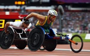 Kurt Fearnley, (AUS), Men's 5000m - T54 race.. Athletics, Olympic Stadium, Olympic Park (Friday 31st Aug) Paralympics - Summer / London 2012 London England 29 Aug - 9 Sept  © Sport the library/Joseph Johnson