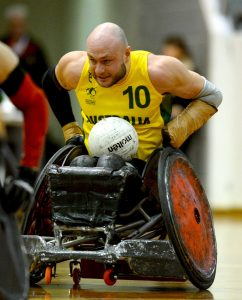 Chris Bond (AUS) Australia v Canada / Game 5 International Wheelchair Rugby Australian Paralympic Committee State Netball & Hockey Centre / Melb Thursday 25 June 2015 © Sport the library / Jeff Crow