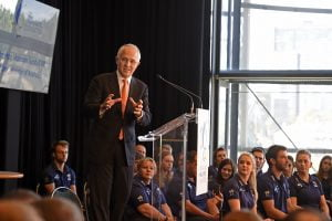 PM, Malcolm Turnbull speaks 2016 APC RIO Australian Team Launch Australian Paralympic Committee Millennium Room, ANZ Stadium Sydney Olympic Park / NSW Monday 20 June 2016 © Sport the library / Jeff Crow