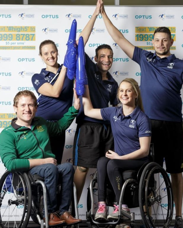 Optus urges Aussies to send a #High5 to the Paralympic Team
