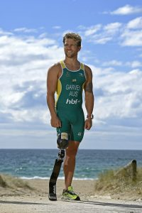 RIO 2016 APC Para-Triathlon Team Announcement at the Coolangatta SLSC with athlete Brandt Garvey Australian Paralympic Committee Coolangatta SLSC Qld QLD Wednesday 3rd August 2016 © Sport the library / Jeff Crow