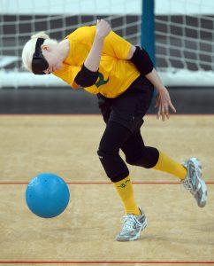 Nicole Esdaile (AUS) Womens Goalball  Aus vs Japan  - Copper Box,  Paralympics - Summer / London 2012 London, England 29 Aug - 9 Sept © Sport the library / Jeff Crow