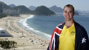 Wheelchair basketballer Brad Ness is the Australian Flag bearer for the Opening Ceremony on Wednesday night 7 September. Overlooking famous Capocabana Beach 2016 Paralympic Games - RIO Brazil Australian Paralympic Committee Rio Monday 6 September 2016 © Sport the library / Jeff Crow