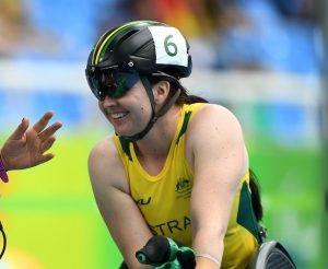 Angella Ballard (AUS) got third in Women's 100m- T53 Round Heat 2. Ro 2016 Paralympics  Games Opening Ceremony September 8, 2017 Olympic Stadium, Rio de Janeiro, Brasil (Brazil) Courtney Crow / Sport the library