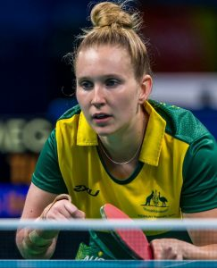 Melissa Tapper competes in her preliminary table tennis match. Women's Singles - Class 10 Riocentro - Pavilion 3 2016 Paralympic Games - RIO Brazil Australian Paralympic Committee Thursday 8 September 2016 © Sport the library / Greg Smith