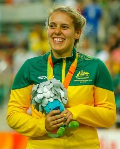 Paralympic Silver Medal winner Amanda Reid in the womens C1-C2-C3 500m Time Trial. Rio Olympic Velodrome 2016 Paralympic Games - RIO Brazil Australian Paralympic Committee Saturday 10 September 2016 © Sport the library / Greg Smith