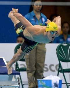 Blake Cochrane (AUS) 400m  Freestyle S8 Swimming Heats / Day 1 Olympic Aquatic Stadium 2016 Paralympic Games - RIO Brazil Australian Paralympic Committee Rio Brazil  Thursday 8 September 2016 © Sport the library / Jeff Crow