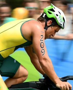 Brandt Garvey (AUS) PT2 Class Olympic Stadium / Day 3  Para-Triathlon 2016 Paralympic Games - RIO Brazil Australian Paralympic Committee Rio Brazil  Saturday 10 September 2016 © Sport the library / Jeff Crow