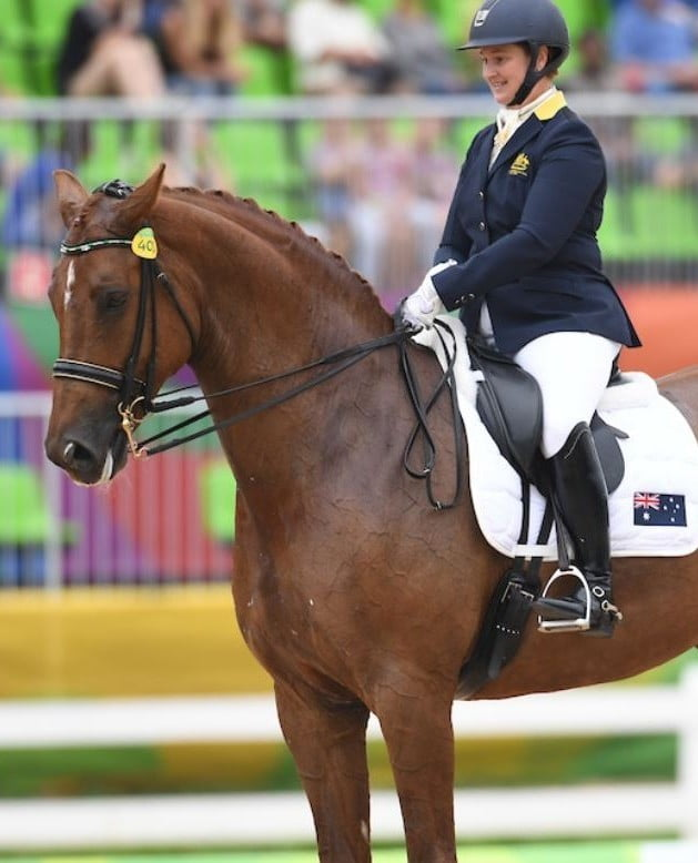 Equestrian Lisa Martin finishes in fourth place
