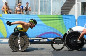 Kurt Fearnley AUS wins Silver in the Men's Marathon. Athletics - Rio 2016 Paralympics  Games  September 17, 2017 Olympic Stadium, Rio de Janeiro, Brasil (Brazil) © Sport the library / Courtney Crow