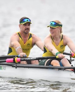 Gavin Bellis (Bow) and Kathryn Ross (Stroke) AUS Rowing - TA Mixed Double Sculls Ro 2016 Paralympics  Games Opening Ceremony September 9, 2017 Lagoa Stadium, Rio de Janeiro, Brasil (Brazil) Courtney Crow / Sport the library