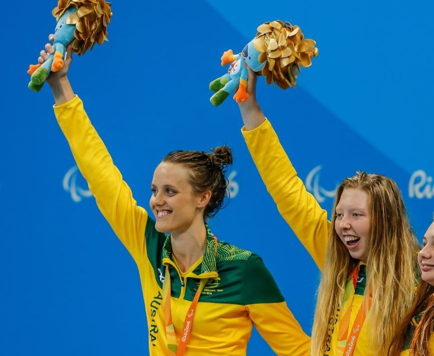 Gold, gold and white gold for Aussie women in the pool