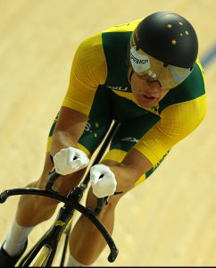 Paralympic Gold Medal winner David Nicholas in the mens C3 3000m Individual Pursuit. Rio Olympic Velodrome 2016 Paralympic Games - RIO Brazil Australian Paralympic Committee Friday 9 September 2016 © Sport the library / Greg Smith