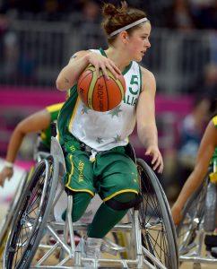 Cobi Crispin (AUS) Australia v Canada, Women's Wheelchair Basketball (Saturday 1st September 2012) - Day03, Basketball Arena,Paralympics - Summer / London 2012, London, England 29 Aug - 9 Sept , © Sport the library/Jeff Crow