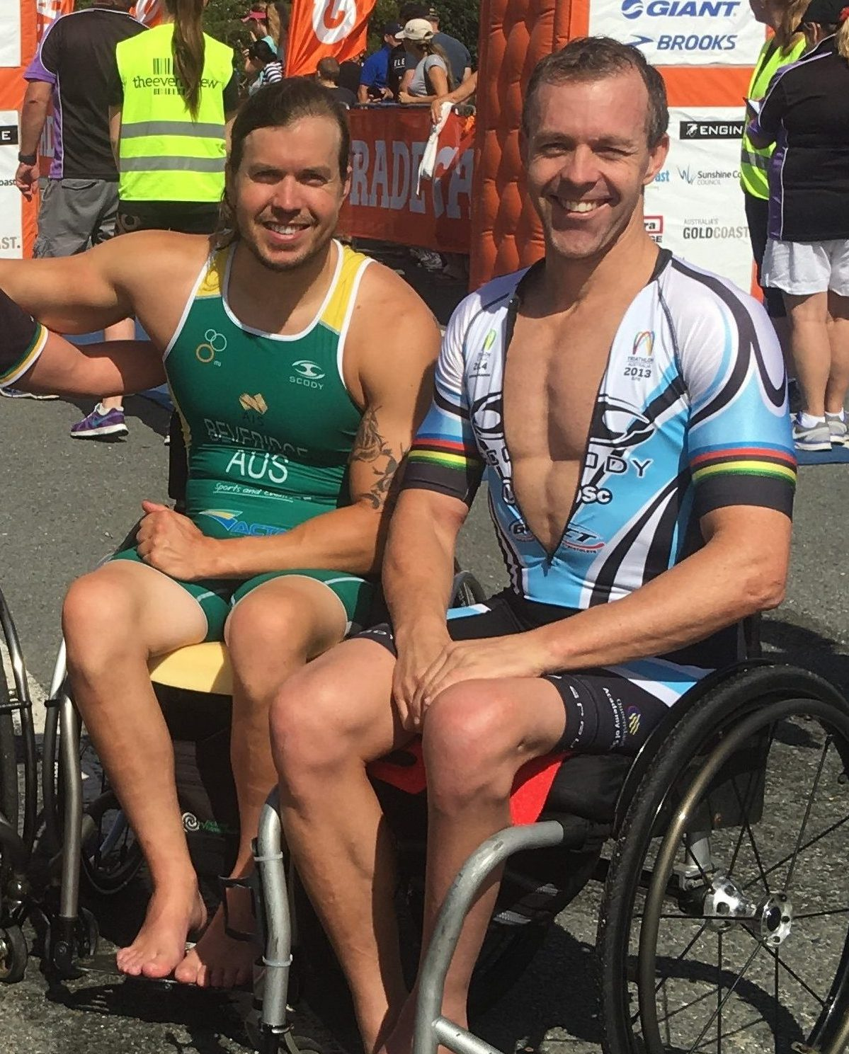 Para-triathletes show golden form in Robina
