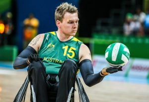 Rio 2016 - Wheelchair Rugby - Mixed Tournament - Australia v Japan - Andrew Harrison (1)